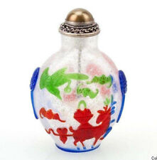 La Chine 20. JH. - a Chinese Overlay Glass snuff bottle-cinese tabatière chinois