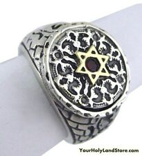 LION OF JUDAH & STAR OF DAVID RING WITH PROTECTION BLESSING IN HEBREW
