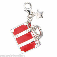 Tingle Suitcase clip on Sterling Silver Charm with Gift Box and Bag SCH125
