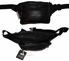 "New Leather waist pouch. waist bag, leather bag, Fanny pack 50"" adjustable BNWT"