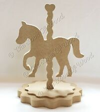 Free standing CAROUSEL HORSE craft shape MDF 18mm thick