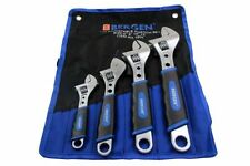 "BERGEN 4pc ADJUSTABLE WRENCH / SHIFTING SPANNER SET 6"" 8"" 10"" 12"" B1805"