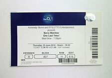 BARRY MANILOW MEMORABILIA - Mint Condition Ticket Stub The O2 London 23/06/16