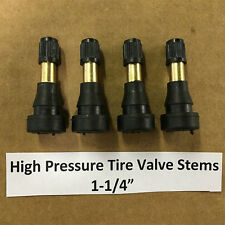 "4pc High Pressure Brass Rubber Snap-in Tire Valve Stems 1-1/4"" TR600HP/TR-600HP"