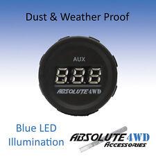 *AUX Voltmeter Blue* AUX 12V 24V DC Weatherproof Car LED Digital Socket Housing
