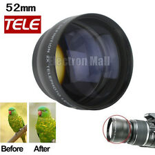 52mm 2X TELEPHOTO Lens for Canon Fuji Pentax Olympus Nikon