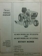 "Sears Suburban Mower Deck Owners & Parts Manual 20pg 42"" 48"" 917.253370 & 253380"