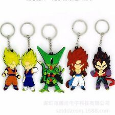 5Pcs Set Dragon Ball Z Cell Son Goku Vegeta Super Saiyan PVC keychain keyring