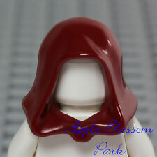 NEW Lego Minifig DARK RED HOOD - Star Wars Jedi Hat - Castle Kingdoms Head Gear