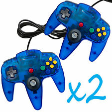 2 New Clear Blue Long Handle Controller Pad Joystick for Nintendo 64 N64 Sy