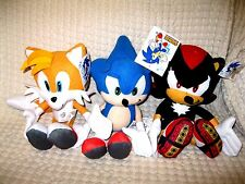 """Sonic the Hedgehog,Tails,Shadow Plush 15"""" Combo Plush Trio Set-New with Tags"""