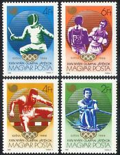 Hungary 1988 Olympic Games/Sports/Olympics/Fencing/Rowing/Boxing 4v set (n40279)