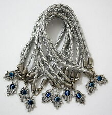 10 X Silver Hamsa Bracelet Evil Eye Friendship Kabbalah Hand Of Fatima Job Lot