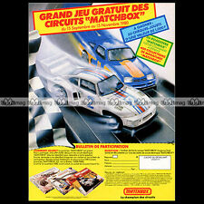 MATCHBOX Lesney 'Grand jeu' (Circuit, Slot Car) 1980 - Pub / Advert Ad #A891