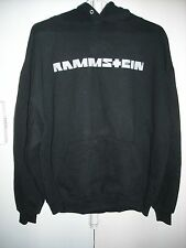 RAMMSTEIN CONCERT TOUR SWEATSHIRT HOODIE BLACK XL INDUSTRIAL METAL LINDEMANN