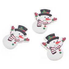 BD  30PCs Christmas Snowman 2 Holes Wooden Buttons Sewing DIY Scrapbooking