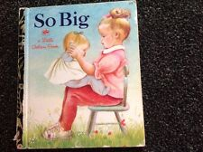 LIttle Golden Book  ~ SO BIG Eloise Wilkin  Vintage 1972 first edition beautiful