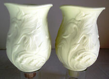 Spring Flower Votive Candle Holder Peg Inserts Ivory Bisque Partylite 2 Pieces