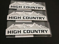3x OEM HIGH COUNTRY Emblem Badges door tailgate Silverado F Genuine Chrome