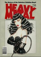 July 1991 Issue - Heavy Metal Magazine - Bettie Page Cover