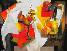 """PIERRE PIVET """"COUPE DE FRUITS"""" Hand Signed Limited Edition Giclee on Canvas"""