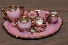 Miniature Pink Limoges Tea Set