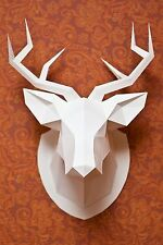 Trophy Stag Head Antler 3D Puzzle Jigsaw Paper Animal Model Wall Mount
