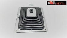 "Universal large floor shifter boot with chrome ring 8"" x 9"" Hurst B&M"