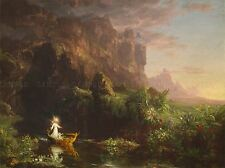 THOMAS COLE AMERICAN VOYAGE LIFE CHILDHOOD OLD ART PAINTING POSTER BB6414A