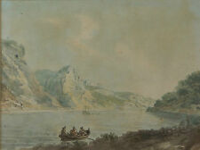 Nicholas Pocock - 18th Century St Vincent Rocks Clifton Bristol Painting c.1780