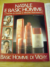 PUBBLICITA' ADVERTISING WERBUNG 1990 BASIC HOMME DI VICHY (G48)