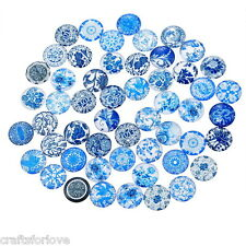 10PCs 12mm Flower Mixed Glass Embellishments Cabochons Phone Decor