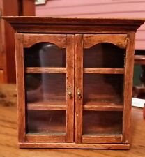 Miniature Dollhouse Vintage Wood Cabinet Top 1700's style Furniture 1:12 scale