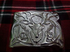 TC Men's Kilt Belt Buckle Stag Head Chrome Finish/Stag Head Kilt Belt Buckles