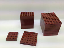 LEGO - 5 PIECES PER ORDER ONLY - Dark BROWN Base Plates In Different Sizes