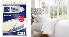 WATER PROOF COVER NEW DOUBLE MATTRESS FITTED LONG LASTING PROTECTOR VINYL