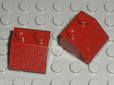 LEGO 2 DkRed slope bricks ref 3039 / Set 10019 75060 10141 6207 7163 75003 75025