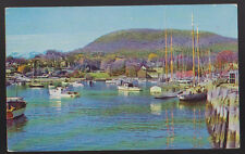 CAMDEN MAINE ME Pleasure and fishing craft 1983 Vintage Postcard PC