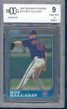1997 bowman chrome #212 ROY HALLADAY toronto blue jays rookie card BGS BCCG 9
