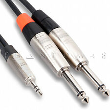 """Hosa Technology HMP-010Y 3.5mm 1/8"""" TRS to Dual 1/4"""" TS Stereo Breakout 10ft"""