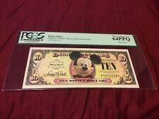 2008 T DISNEY $10 DOLLAR Mickey Mouse PCGS 64 PPQ Very Choice New Disney Store