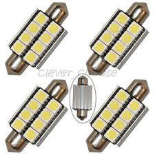 4 x 39mm White Canbus 8-SMD LED Festoon Bulb License Plate Light No Error Free