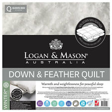 Logan and Mason Down & Feather Quilt/Doona 100% Cotton Casing 42/ 58 SUPER KING