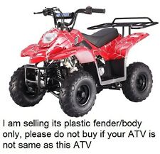 ATV Quad Body Plastic front & rear fender fit Taotao only 110B 110cc Red Spider
