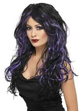 Black and PurpleGothic Bride Fancy Dress Wig