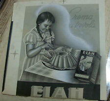 bozzetto fotografico originale anni '50 CREMA DA TAVOLA ELAH