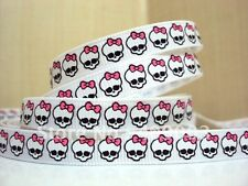 "Monster High Ribbon 3/8"" Wide 2m is only £1.29 NEW UK SELLER FREE P&P"