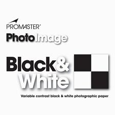 Promaster PhotoImage Black & White Photographic Paper 25sheets 8x10 GLOSSY #3038