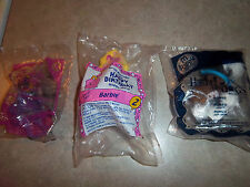(3) New/Sealed McDonald's Toys - Barbie Happy Birthday #2 Twinkle Toes #4 -Romeo