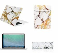 Retina 13-Inch Marble Pattern Rubberized Hard Case+SleeveBag+KeyboardCover